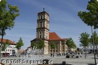 Stadtkirche un Marktplatz in der Residenzstadt Neustrelitz - MV