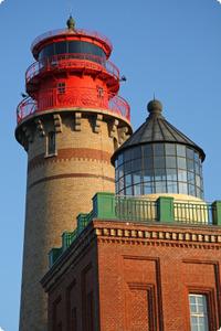 Leuchttürme an der Steilküste Kap Arkona auf Rügen - Mecklenburg-Vorpommern