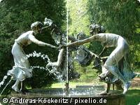 Nymphenbrunnen im Park von Burg Schlitz bei Teterow