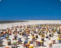 Strand von Borkum eine der Ostfriesischen Inseln - Niedersachsen