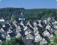 Fachwerkhäuser in Freudenberg im Siegerland - Nordrhein-Westfalen