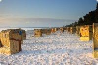 Strandkörbe am Timmendorfer Strand nache der Ferienwohnungen - Schleswig Holstein