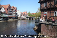 Altstadt der Universitätsstadt Lüneburg in Niedersachsen