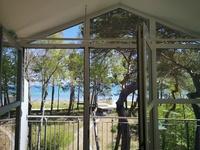 FeWo Leuchtturm direkt am Sandstrand großer Balkon zur Meerseite; privater Strandzugan