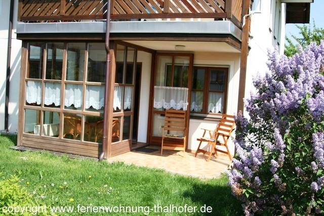 Ferienwohnung Thalhofer Wintergarten und Terrasse