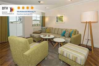 Bansin - Villa Waldstr. App 14 Wohnbereich