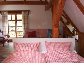 Hofhaus Schlaf-und Wohnbereich