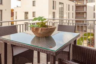 Appartement Strandläufer in Binz mit Südbalkon Balkon in Südlage im modernen DünenResort
