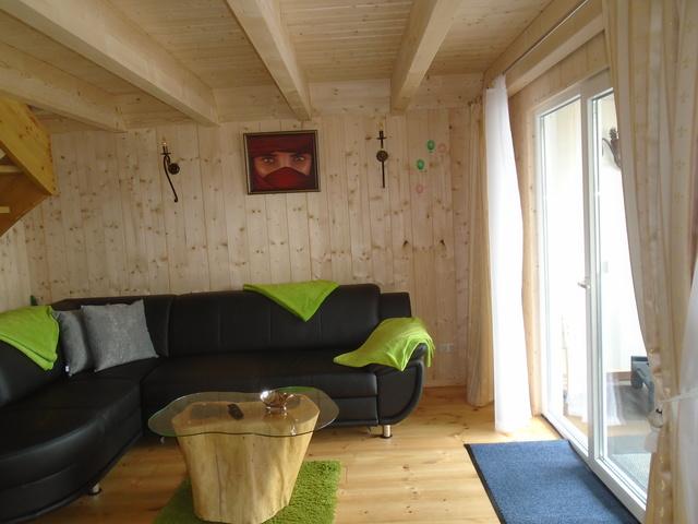 Wohnzimmer mit Blick auf den Klenzsee