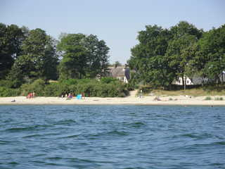 Ostsee Strandvilla Silvia Blick von der Ostsee auf das Haus
