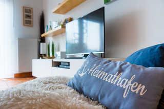 Ferienhaus Strandgut Wohnzimmer