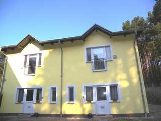 Ferienhaus UsedomKinder mit 2 Haushälften Außenansicht Doppelferienhaus Usedomkinder