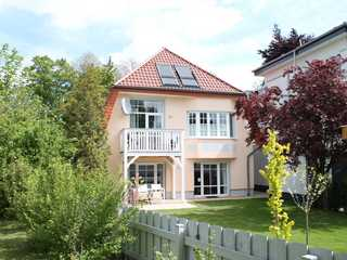 Muschel Whg. Krabbe Villa Muschel - Blick auf den Balkon der Wohnun...