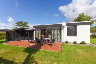 Ferienhaus Federwolke Garten mit Terrasse
