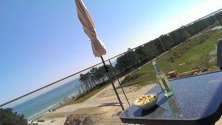 Meerblick Appartement Ostseebad Binz Prora direkt am Strand Blick vom Balkon auf die Ostsee