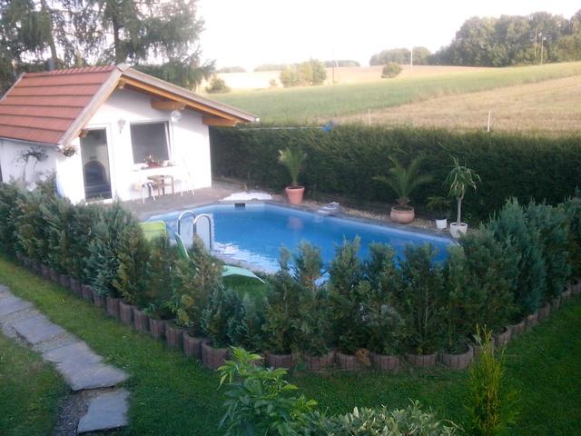 Helle Ferienwohnung mit Terrasse u. Pool 45 m² Pool