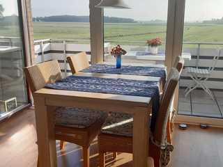 Ferienwohnung Weitblick Weitblick vom Balkon
