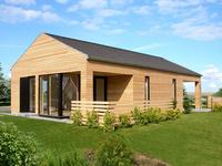 Bungalow - Ostsee Strand 500 m - Nähe Wismar Modernes Ostsee Ferienhaus_naehe Strand_Garten