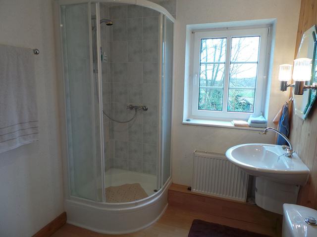Blick zur Dusche