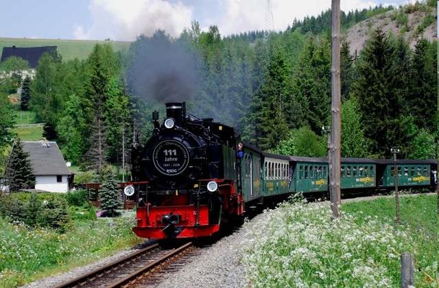Ferienhaus Karin- die Fichtelbergbahn