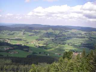 Fewo Engelhirsch Blick vom Hauchenberg