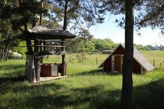 HavelFinn - Finnhütte, Sauna - rustikale Ferien auf dem Land Baumhaus, Außenküche und kleine Finnhütte