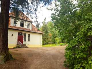 Ferienwohnung Villa am Haussee Zufahrt zur Ferienwohnung