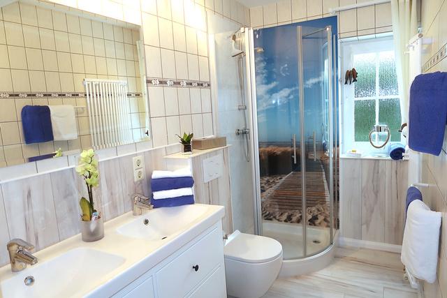 Badezimmer von der 90qm Wohnung