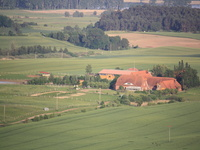 Pferdehof Ruhnau Blick auf die Hofanlage vom Heißluftballon aus
