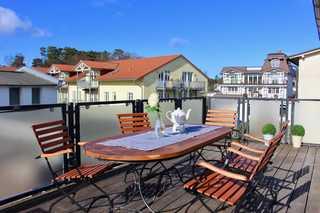 Villa Vergissmeinnicht 02 im Ostseebad Binz auf Rügen Balkon