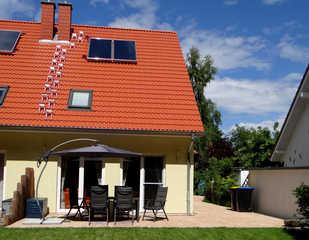 Ferienhaus meerZeit Graal-Müritz Außenansicht Terasse/Gartenbereich