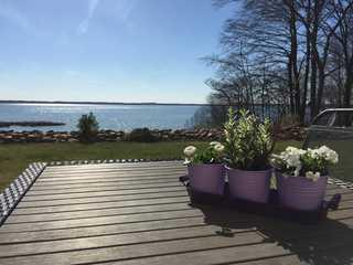 Ferienwohnung am Kölpinsee/Waren Blick von Terrasse