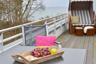 Strandkorb Dachterrasse mit Meerblick