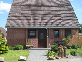 BUE - Ferienhaus Helmcke Eingang zur Wohnung 1 im 1. OG