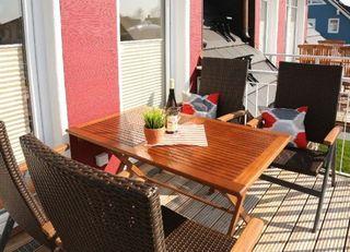 Exkl. App. Ars Vitea, Kamin, W-LAN, 200 m zum Strand Balkon