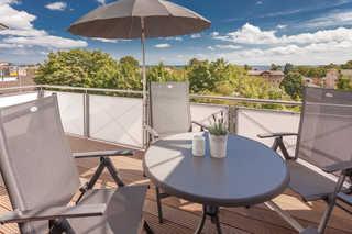 Villa Am alten Kreidebruch - App. Störtebeker Balkon und Aussicht