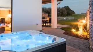 Luxus-Ferien-VILLA FELICITÁ Abendstimmung in der Villa Felicit?