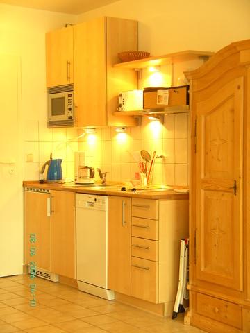 Apartment, Küche mit Spülmaschine
