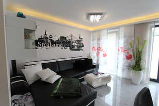 Strandresidenz Appartement Graugans A06 inkl. Strandkorb Wohnbereich