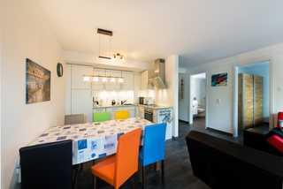 Appartement Gänsesäger V09 mit Meerblick & 2 Strandkörben! Küche & Wohnbereich