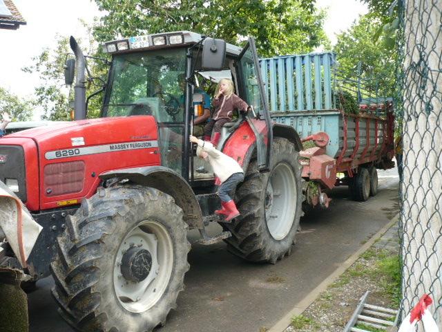 Fahrt mit dem Traktor
