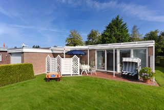 Ferienhaus Möwennest Garten und Terrasse