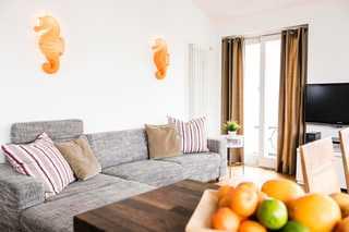 Villa Hansa Ferienwohnung 6 großzügiger Wohn-und Essbereich mit integrierte...