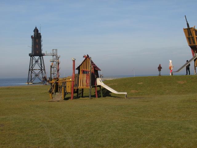 Leuchtturm Obereversand /Piratenspielplatz