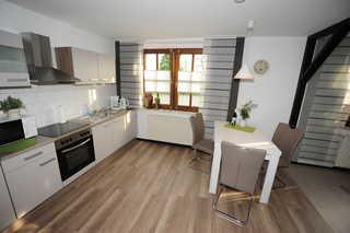 Ferienwohnung Schmidt, 95131 Küche und Wohnbereich