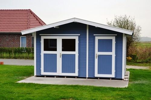 Gartenhaus mit Grill, Bollerwagen, Fahrradanhänger