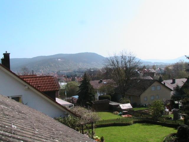 Blick auf den Spessart und Kloster Engelberg