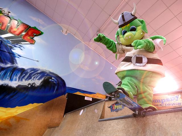 Leif in Skaterhalle Funhalla