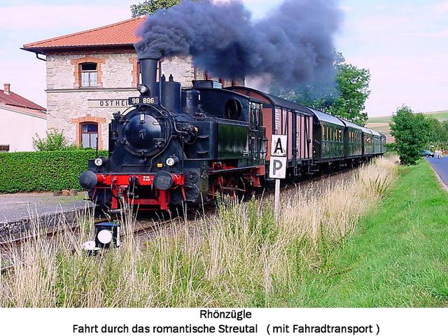 Rhönzügle Museumsbahn m Fahrradtransport