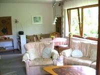 Appartement Markgraf Wohnzimmer mit Sat-TV, zwei Liegen